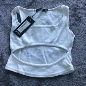 Nasty girl cut out cropped tank